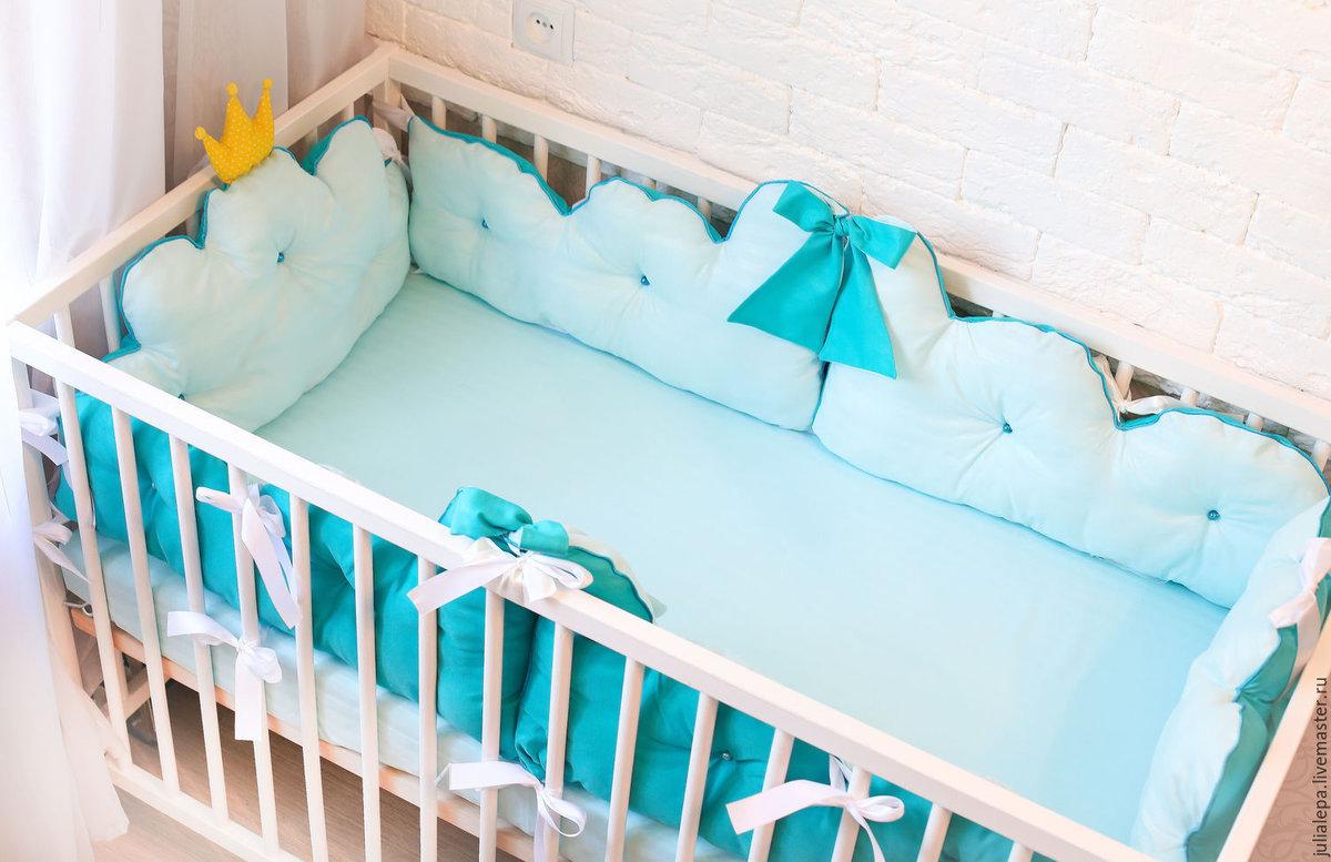 Бортики в детскую кроватку для новорожденных своими руками 1
