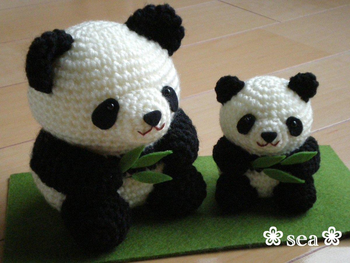 Вязание игрушки панды крючком 32