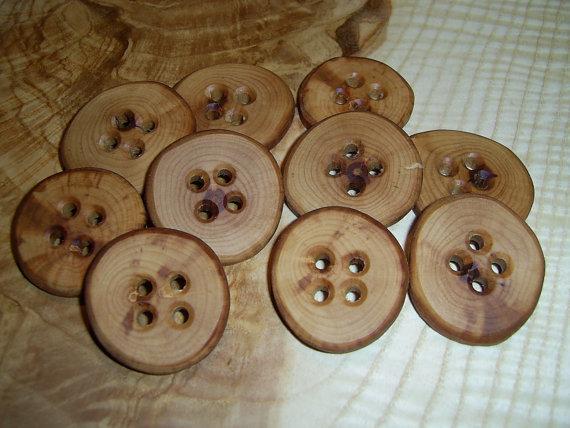 Как сделать деревянные пуговицы своими руками 94
