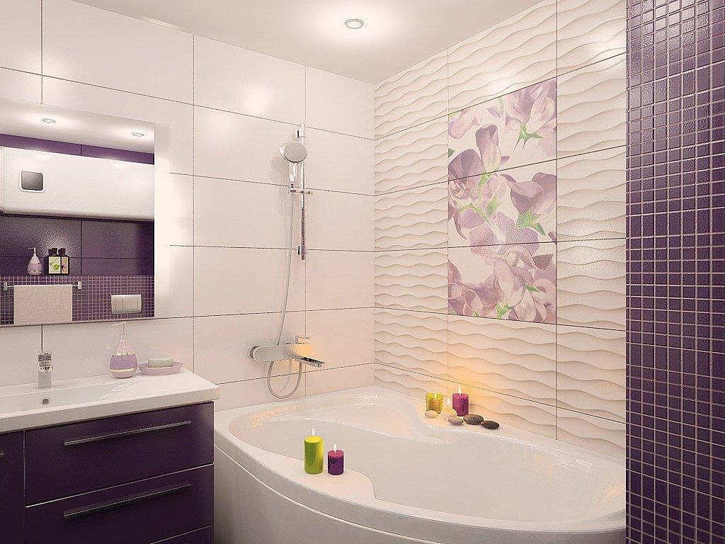 Дизайн плитки в ванной комнате в квартире