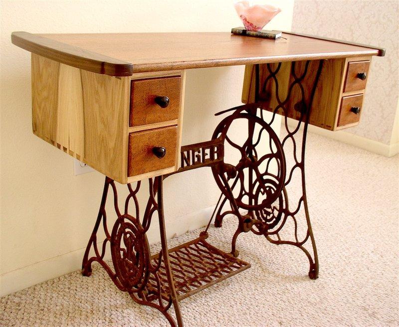 Своими руками стол из старой швейной машинки