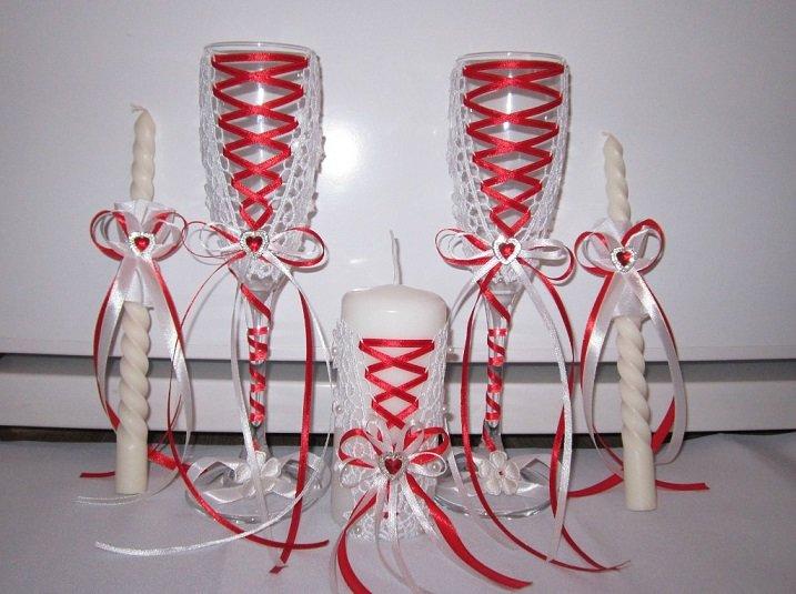 Фужеры на свадьбу свечи своими руками