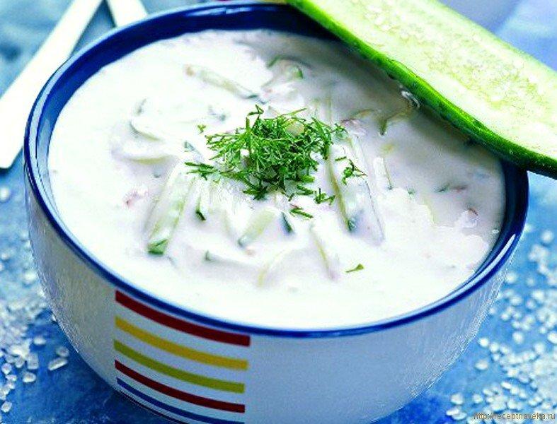 Рецепт холодного супа на кефире