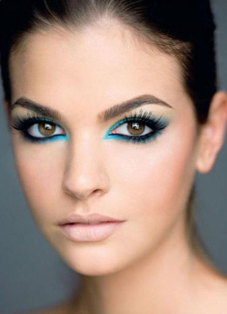 Макияж для светлой кожи и карих глаз и светлых волос