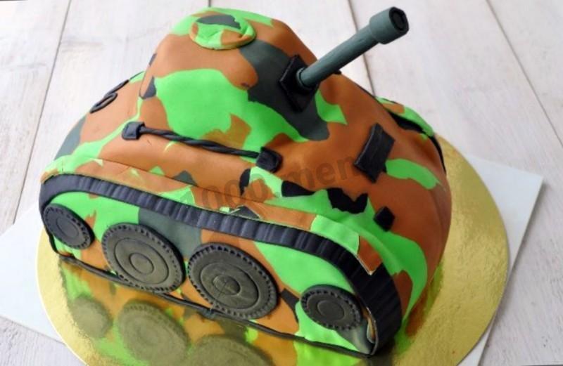 Торт с мастикой своими руками танк из 451