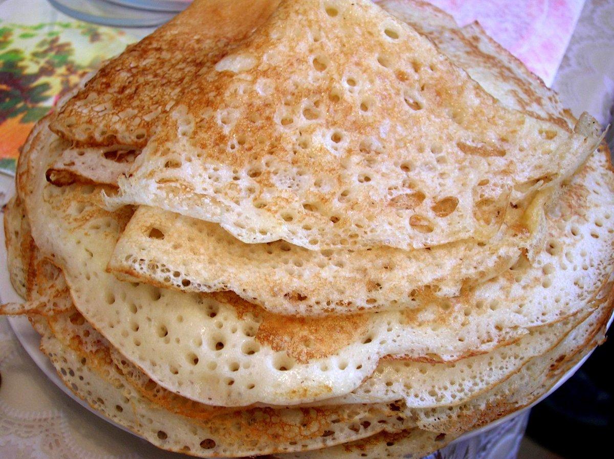 Рецепт тонких блинов на молоке с дырочками пошаговый рецепт с пошагово