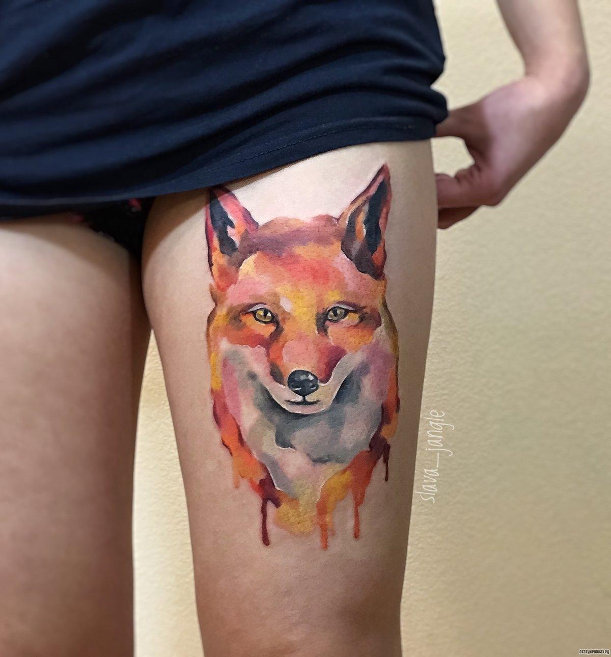 Татуировка лиса. Символика, основное 97