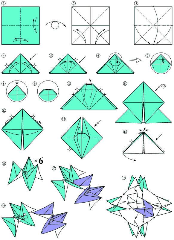 Поделка из бумаги оригами без клея 730
