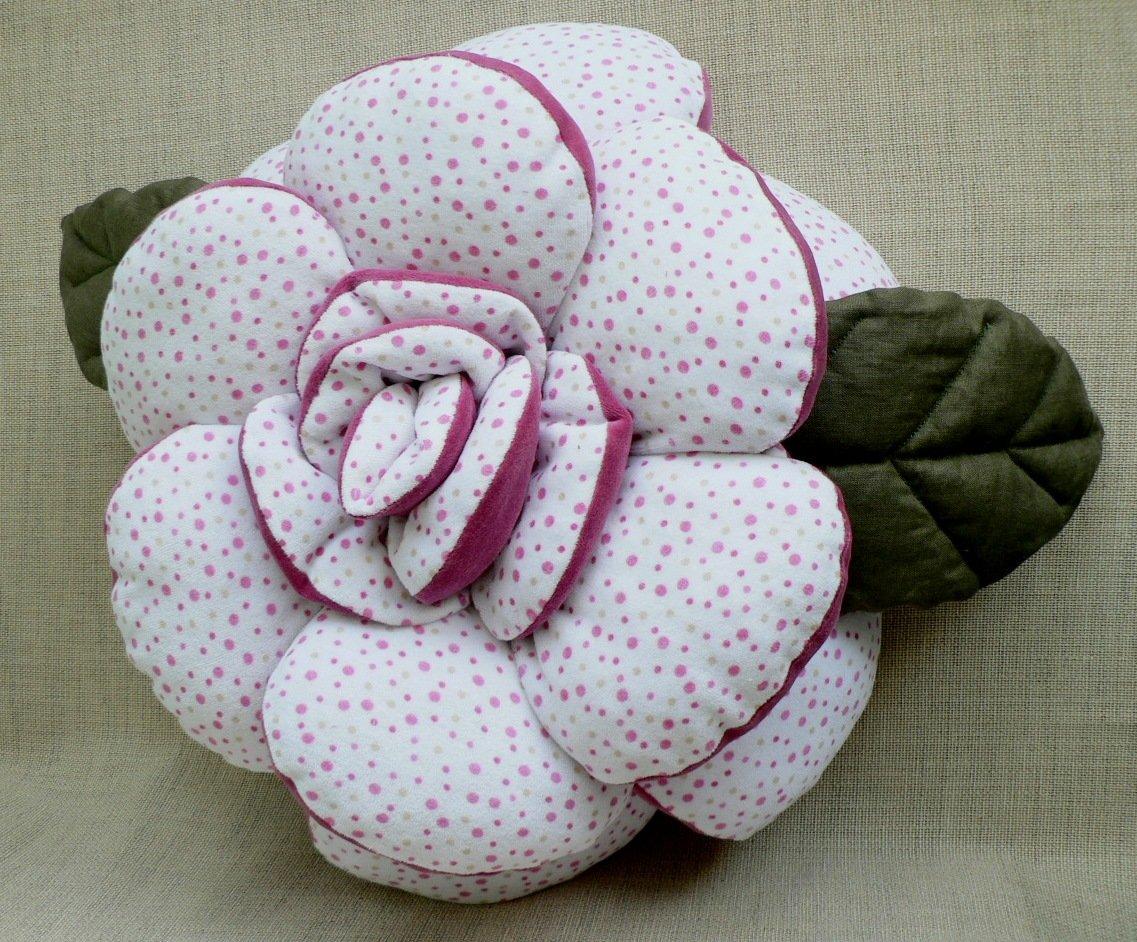 Цветы из ткани для подушек своими руками фото