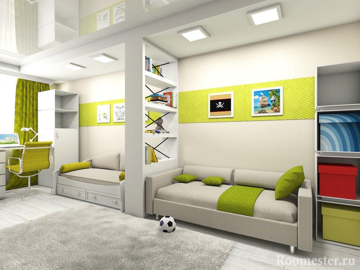 Детская комната для двоих детей: варианты планировки и фото 14
