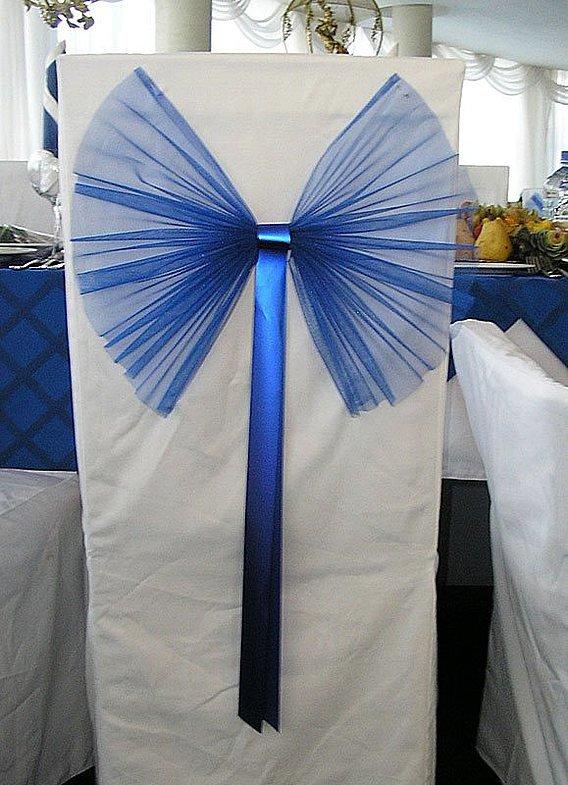 Банты на стулья для свадьбы своими руками