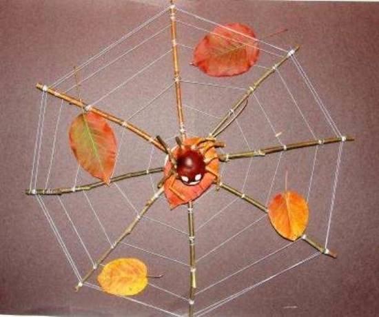 Простые поделки из природного материала в школу