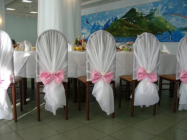 Украшение для стульев на свадьбу своими руками