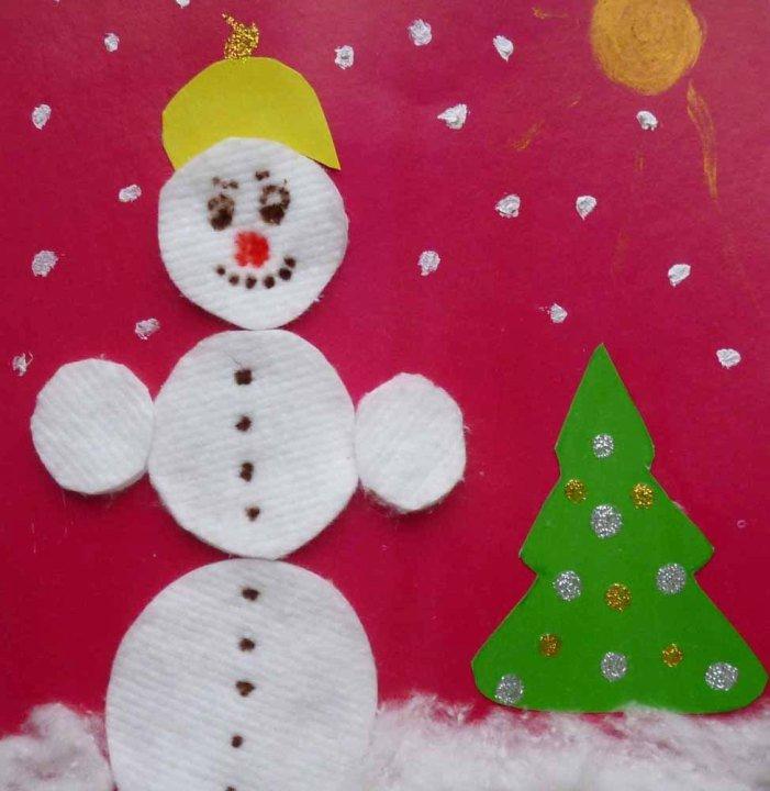 Простые поделки в детский сад к новому году