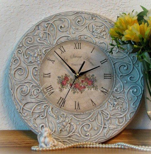 Винтажные настенные часы своими руками 41