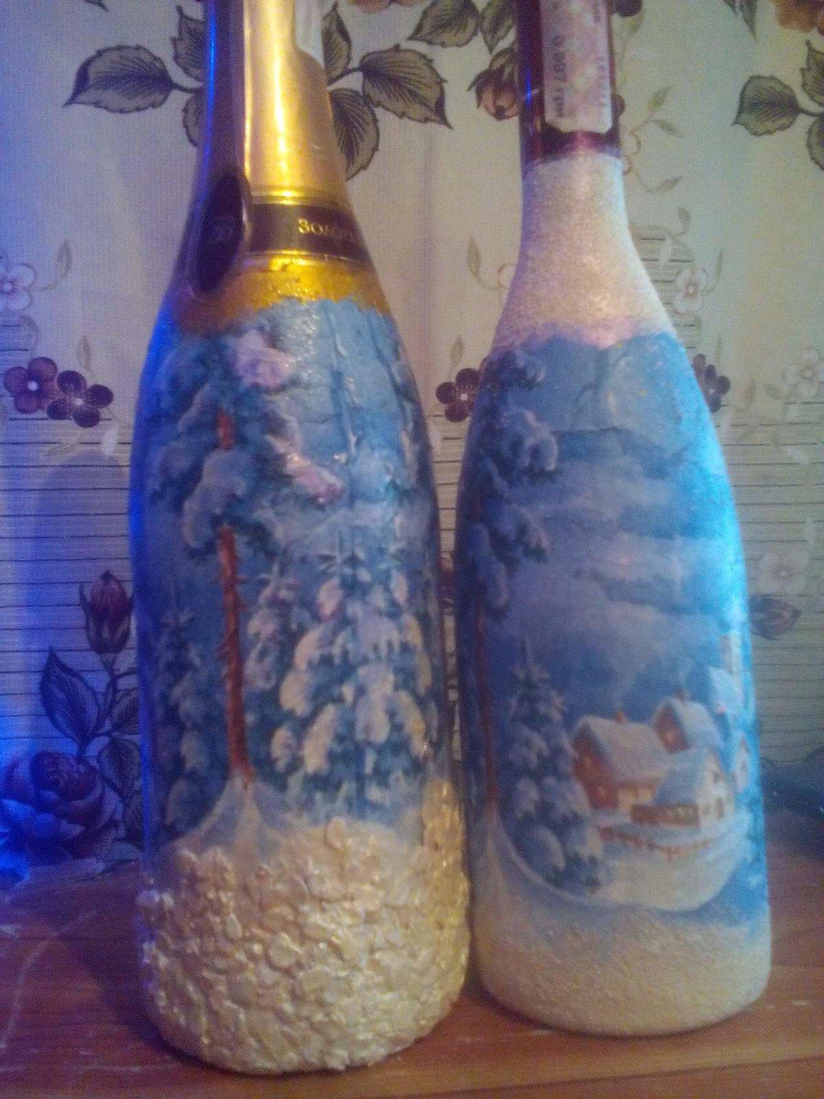 Декупаж для начинающих пошагово бутылки мастер класс