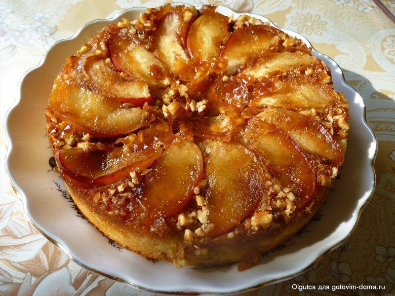 Яблочный пирог с орехами рецепт с фото