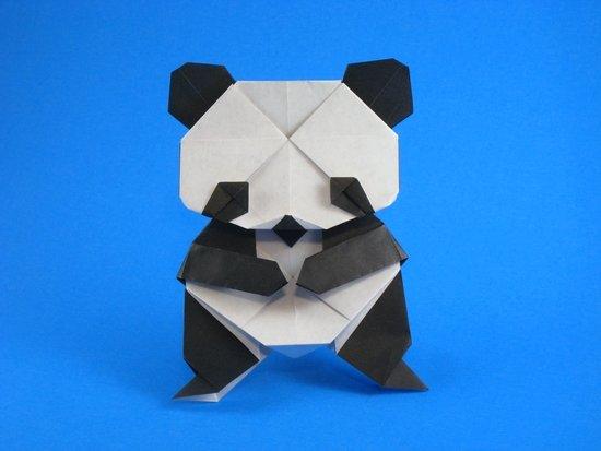 Панда оригами