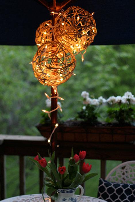Светильник из бечевки
