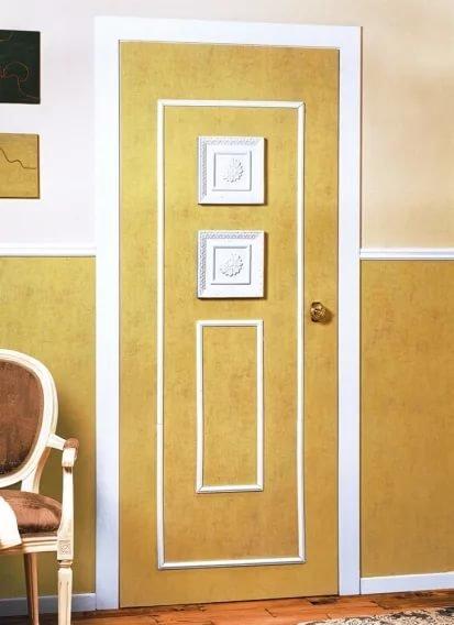 Как обновить деревянную дверь своими руками 676