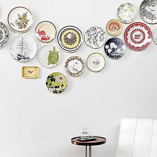 Декор тарелок своими руками на стену 97