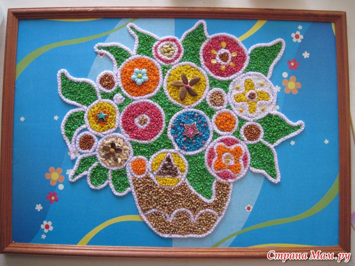 Аппликации для детей из круп kids / pre deti Pinterest Creativity 60