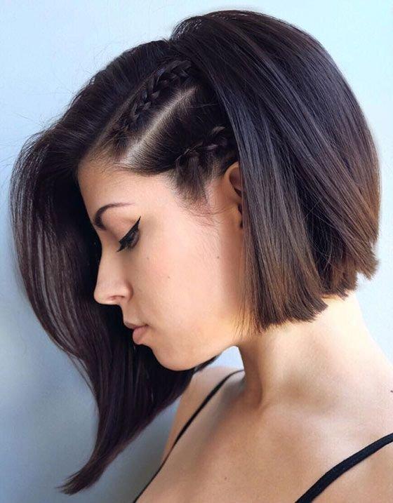 Модная окраска волос 2017 на короткие волосы для брюнеток