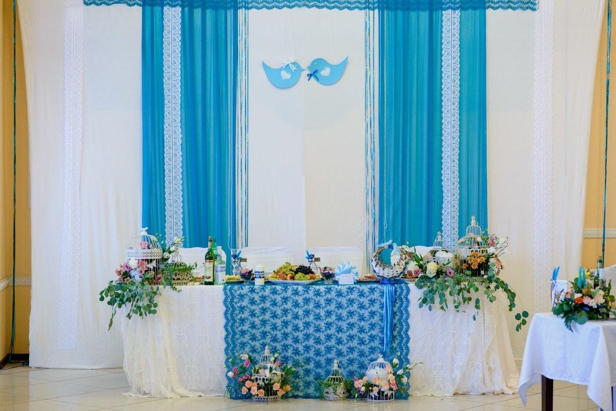 Свадебное украшение зала фото бирюзовый цвет