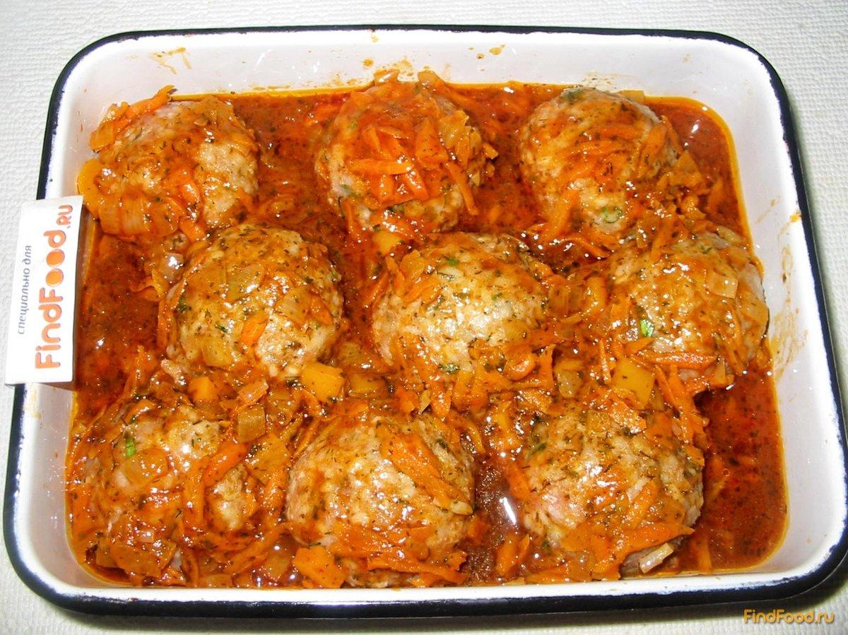 Тефтели в духовке с картошкой пошаговый рецепт