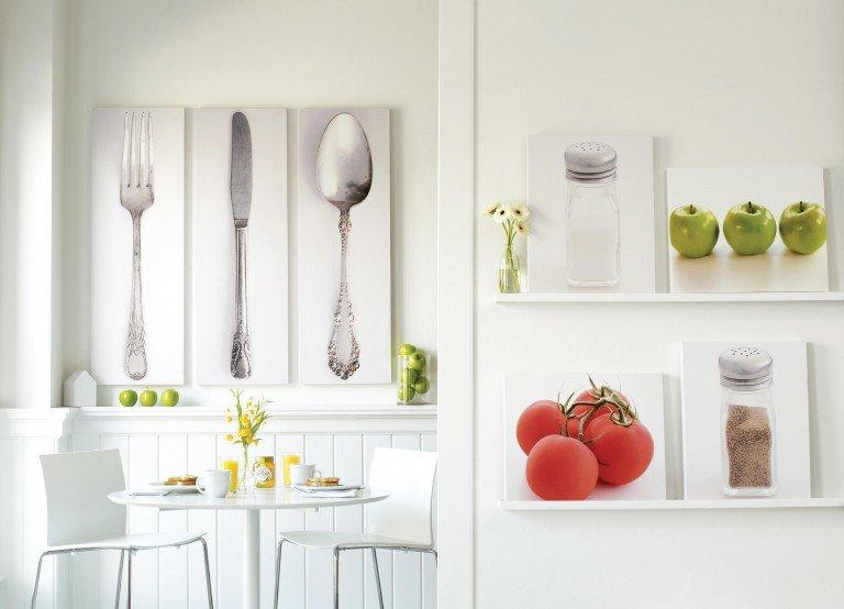 Идеи декорирования стен на кухне своими руками 67