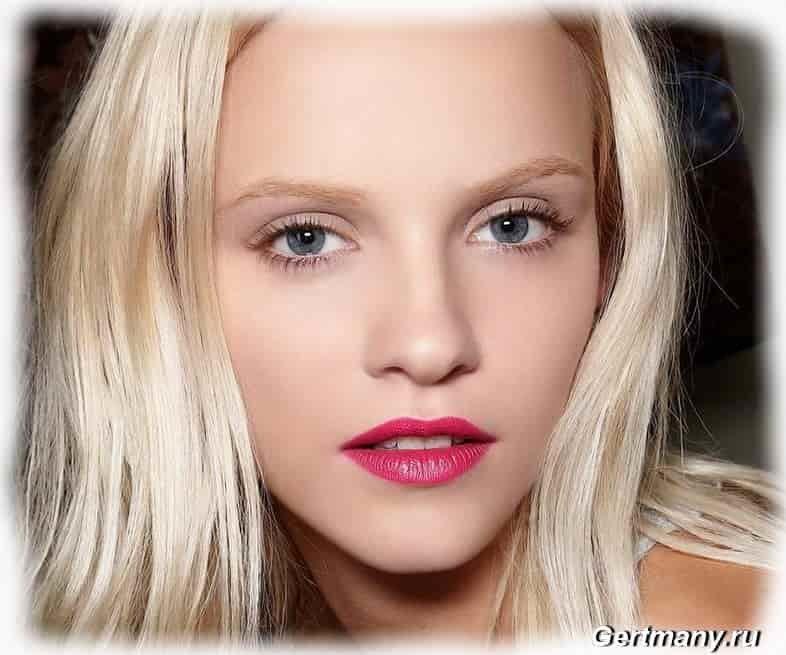 Нюдовый макияж для блондинок фото