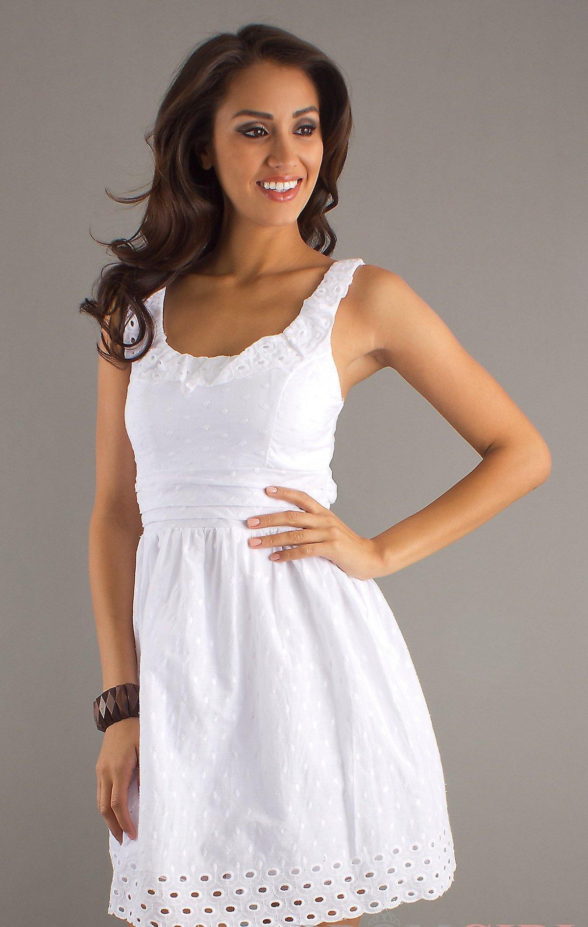 Фасоны летних платьев белое платье