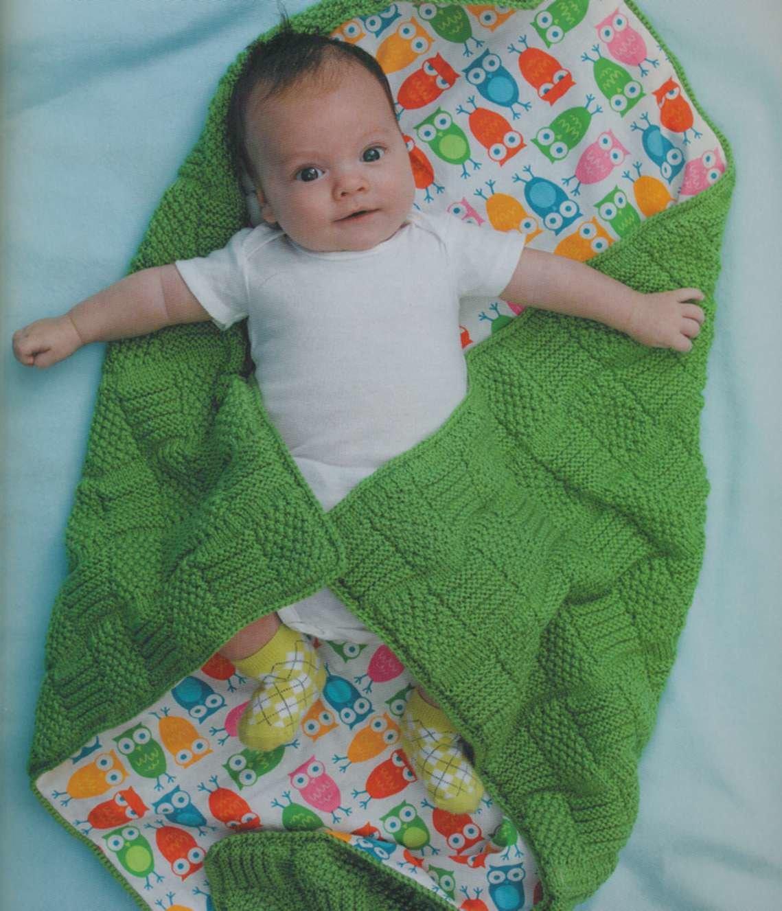 Вяжем детское одеяло для новорожденных