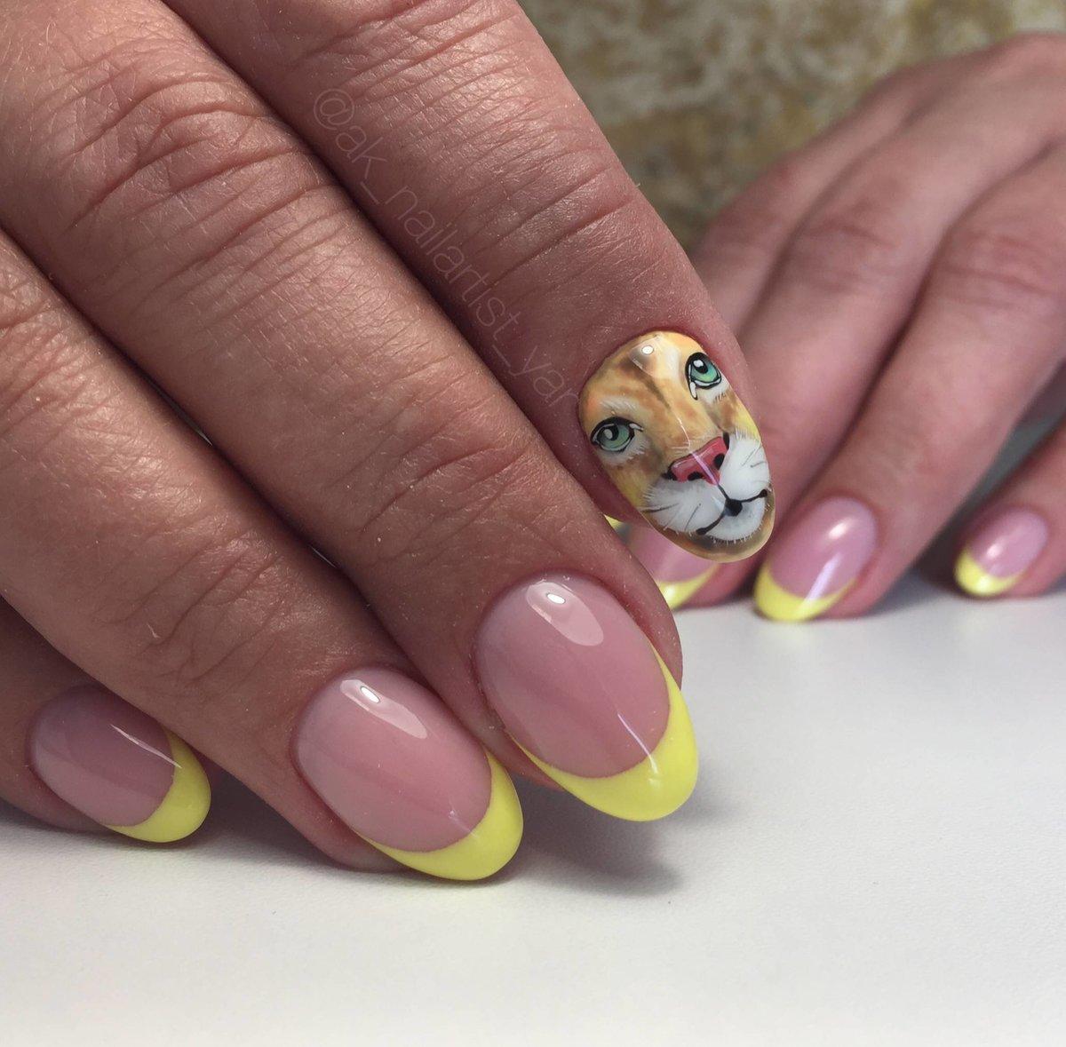 Необычные ногти френч фото