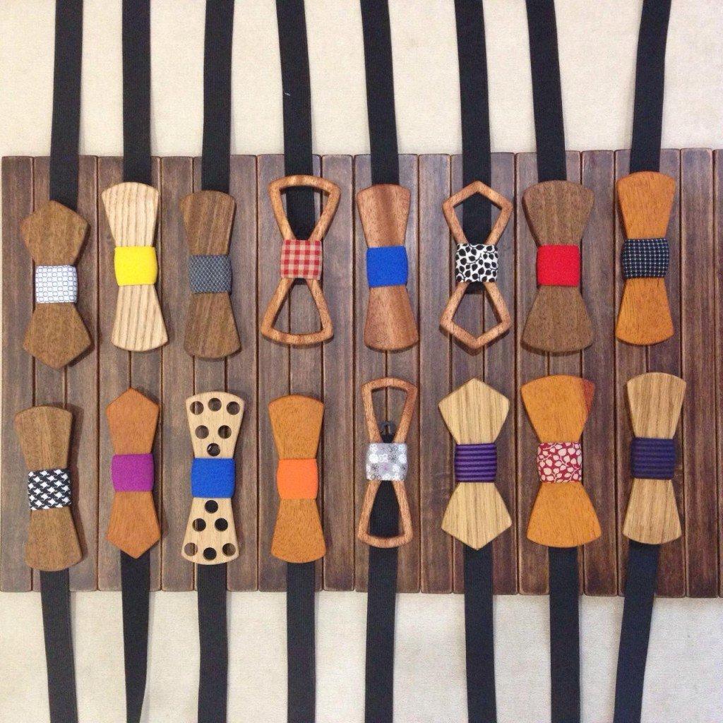 Бабочка-галстук из дерева своими руками