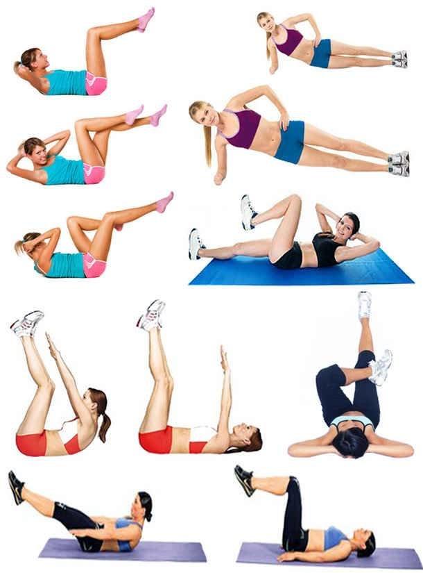 Упражнения чтобы быстро убрать живот в домашних условиях за неделю