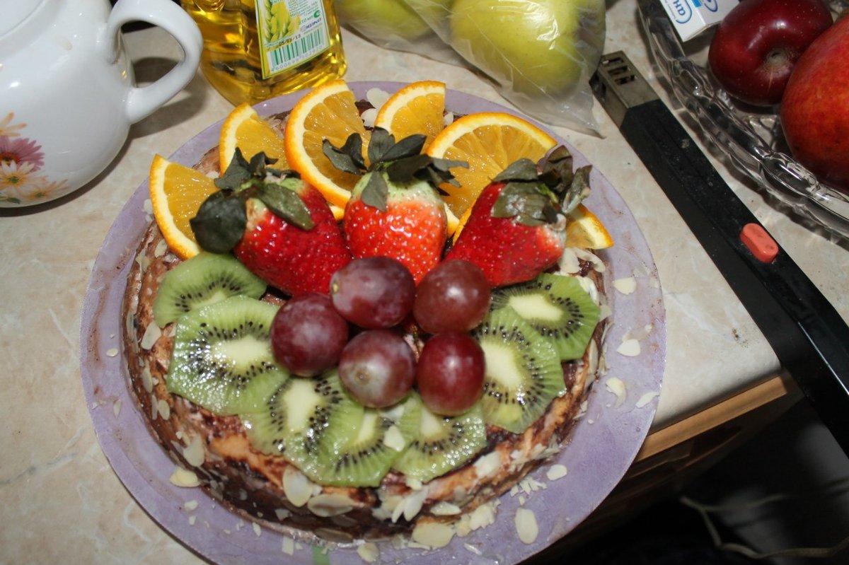 Торты с фруктами и с йогуртовым кремом рецепты