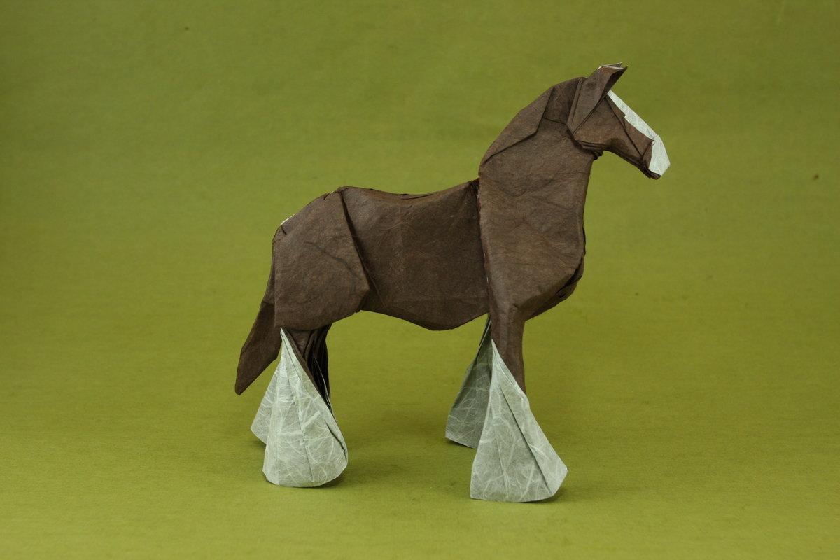 Как сделать бумажную лошадь