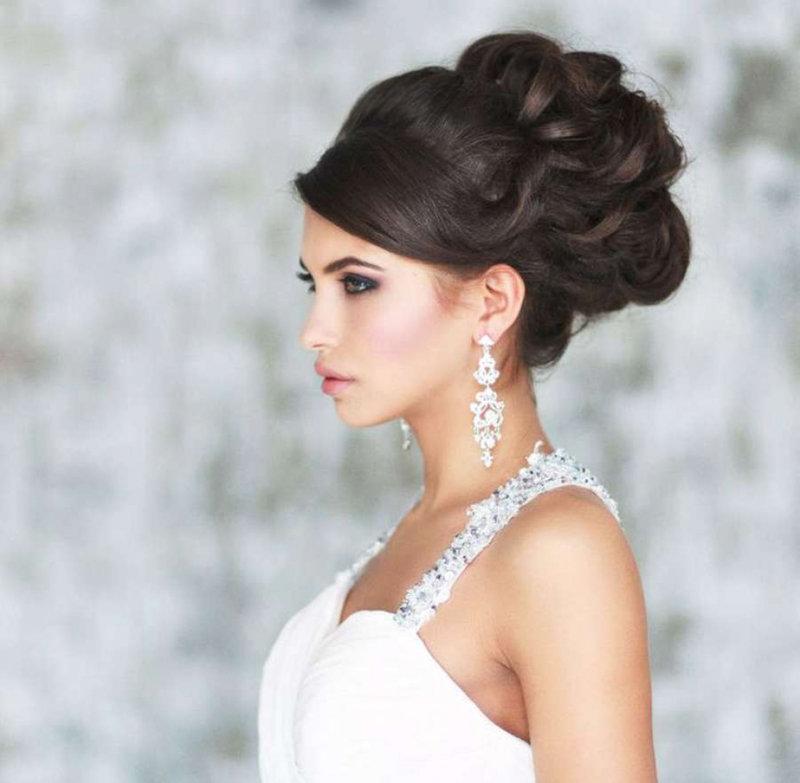 прически свадебные фото каталоги
