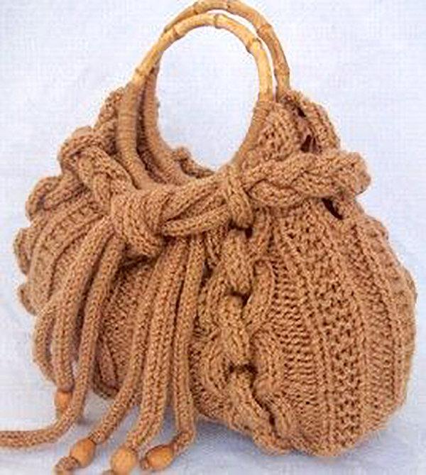 Вязание спицами женские сумки 69