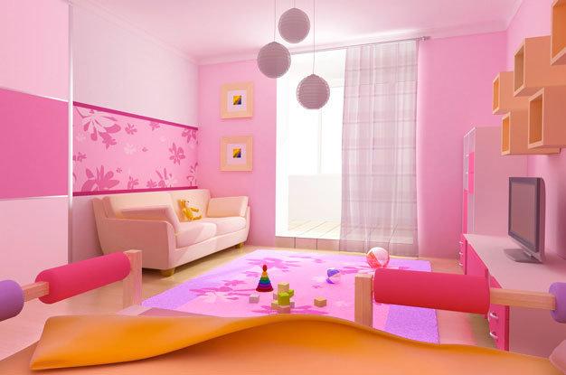 Как сделать дизайн детской комнаты для девочек 105