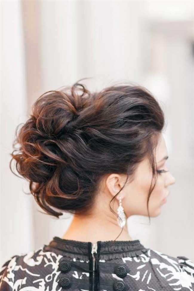 Прическа высоко собранные волосы
