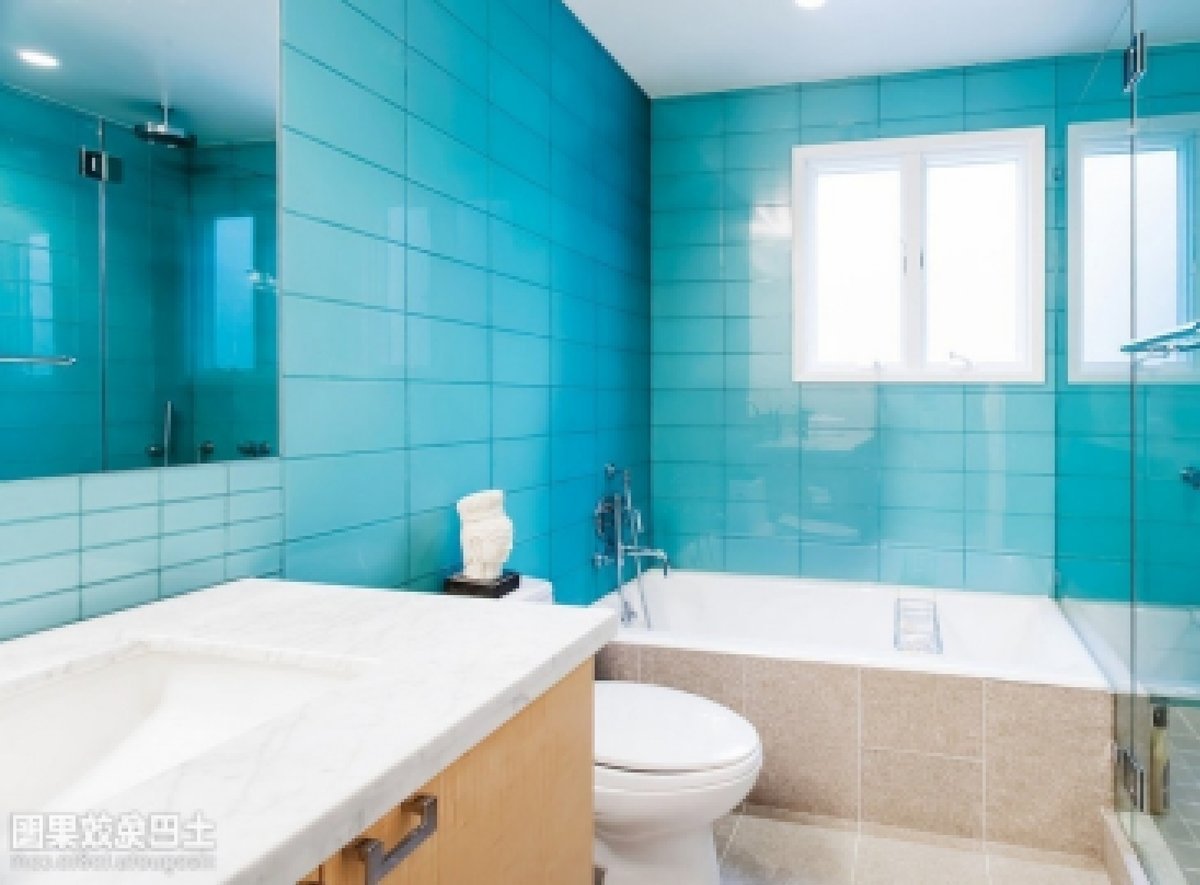 Ванная комната дизайн белая и синяя