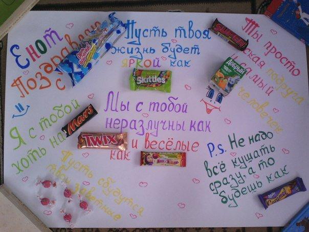 Плакаты подруге на день рождение