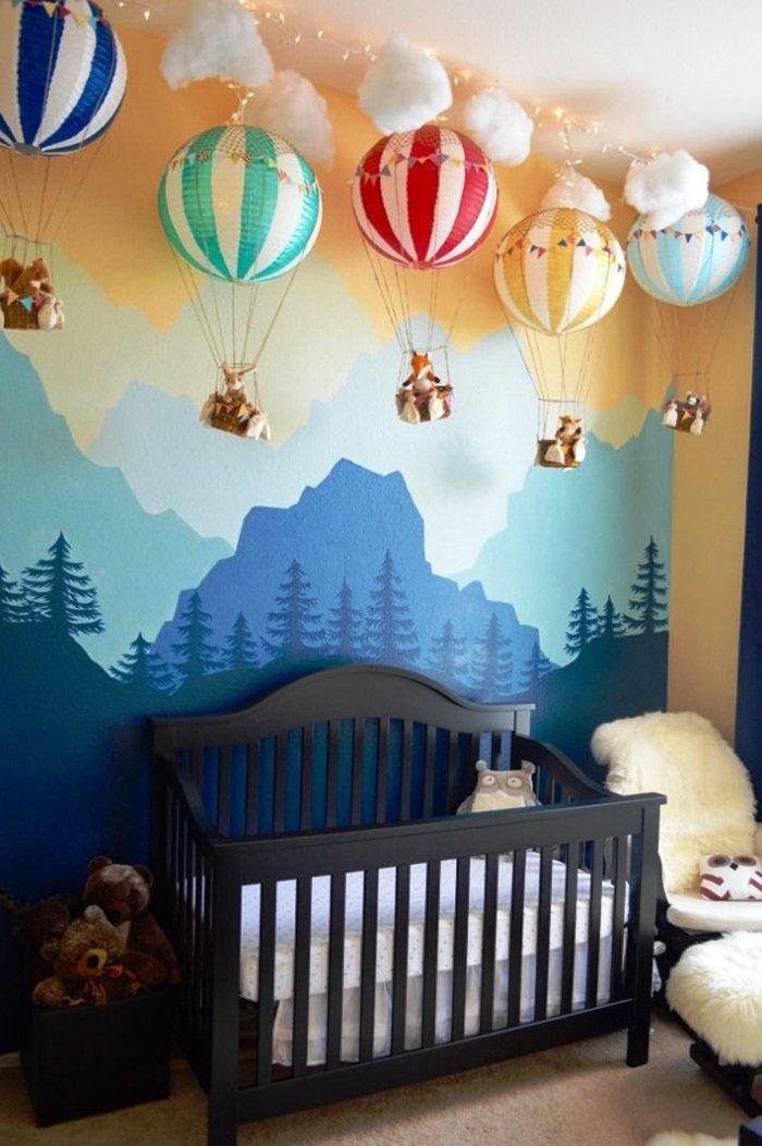 Как украсить комнату новорожденного своими руками 921