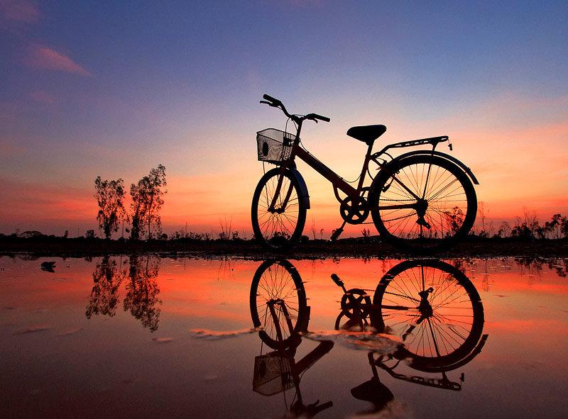Красивые рисунки с велосипедами