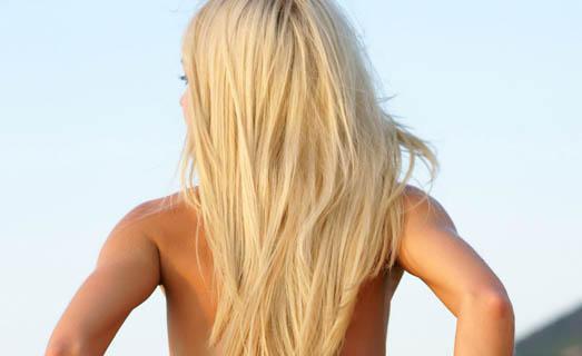 Блондинки красивые спиной на аву