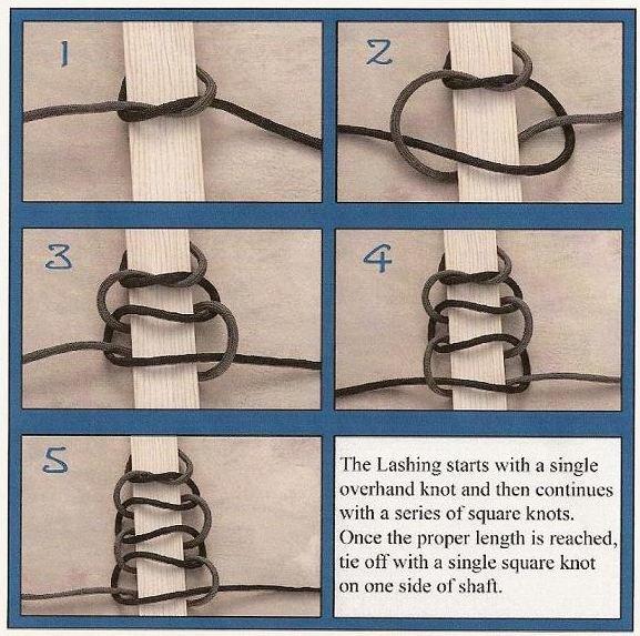 Оплетка рукоятки ножа из веревки своими руками