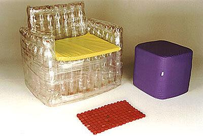 Стульчик из бутылок пластиковых