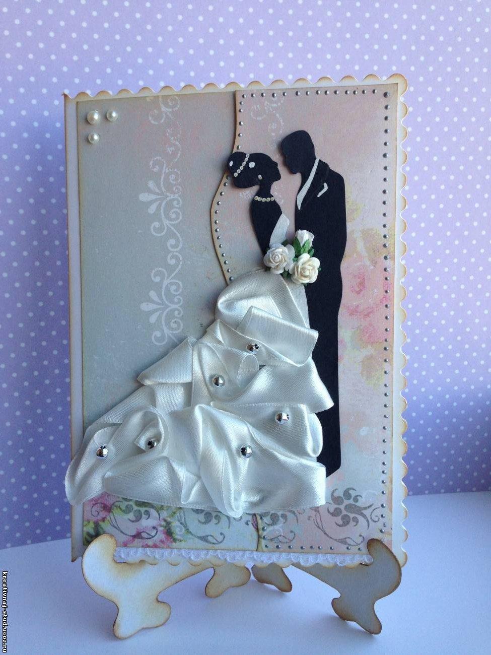 Открытка ко дню свадьбы скрапбукинг 10